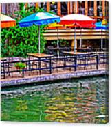 Outdoor Dining Canvas Print