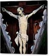 Outdoor Display Of The Crucifixion Of Christ Canvas Print