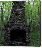 Outdoor Fireplace Canvas Print