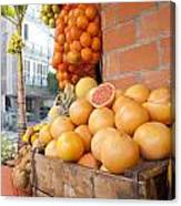 Outdoor Fruit Juice Stall  Canvas Print