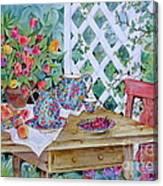 Outdoor Tea Canvas Print
