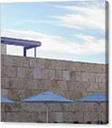 Outdoor Terrace At The Getty Center In Los Angeles Canvas Print