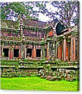 Outer Building Of Angkor Wat In Angkor Wat Archeological Park Near Siem Reap-cambodia  Canvas Print