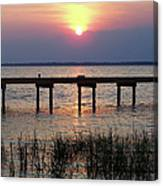 Outerbanks Nc Sunset Canvas Print