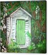 Outhouse Greenery Canvas Print