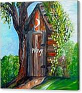 Outhouse - Privy - The Old Out House Canvas Print