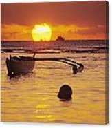 Outigger Canoe Silhouette Canvas Print