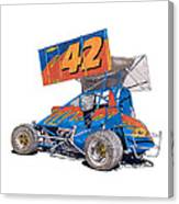 Dirt Track Racing Outlaw 42 Canvas Print