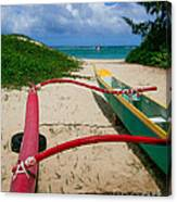 Outrigger Beach Canvas Print
