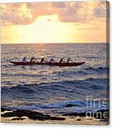 Outrigger Canoe At Sunset In Kailua Kona Canvas Print