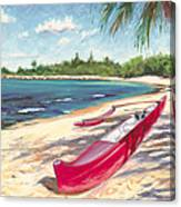 Outrigger - Haleiwa Canvas Print