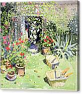 Outside Looking In, 1991 Wc On Paper Canvas Print