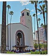 Outside Los Angeles Union Station Canvas Print