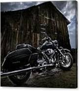 Outside The Barn Canvas Print