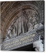 Outside The Basilica Of The Sacred Heart Of Paris - Sacre Coeur - Paris France - 011312 Canvas Print