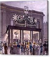 Outside The Theatre Royal, Drury Lane Canvas Print