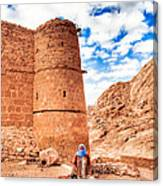Outside The Walls Of Historic Saint Catherine's Monastery - Egypt Canvas Print