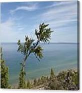 Over Lake Michigan Canvas Print