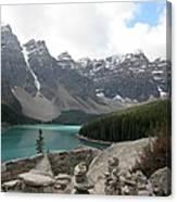 Moraine Lake Lookout - Lake Louise, Alberta Canvas Print
