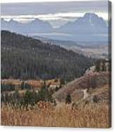 Over Looking Grand Tetons Canvas Print