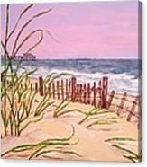 Over The Dunes To The Garden City Pier  Canvas Print