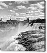 Over The Edge 1 Bw Canvas Print