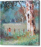 Over The Fence By Jan Matson Canvas Print