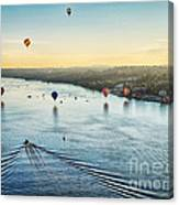 Over The Hudson Canvas Print