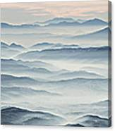 Over The Misty Mountains Canvas Print