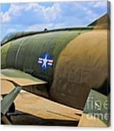 Over The Shoulder F-100 Canvas Print