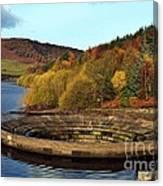 Overflow At Ladybower Reservoir Canvas Print