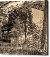 Overgrown Barn Canvas Print