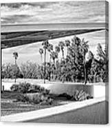 Overhang Bw Palm Springs Canvas Print