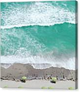 Overhead Wide Angle Of The Beach Canvas Print