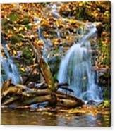 Overlooked Falls In The Porkies Canvas Print