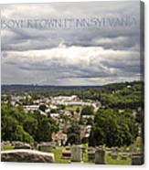 Overlooking Boyertown Canvas Print