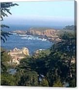 Overlooking Carmel Beach Canvas Print
