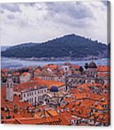 Overlooking Dubrovnik Canvas Print