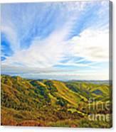 Overlooking Morro Bay Ca Canvas Print