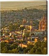 Overlooking San Miguel De Allende Canvas Print