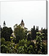 Overlooking The Alhambra On A Rainy Day - Granada - Spain Canvas Print