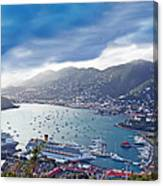 Overlooking The Bay Canvas Print