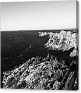 Overlooking The Canyon Canvas Print