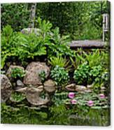 Overlooking The Lily Pond Canvas Print