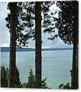 Overlooking The Ocean Canvas Print