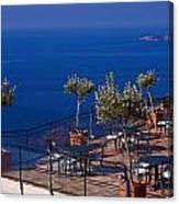Overlooking Tyrrhenian Sea Canvas Print
