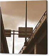 Overpass In Sepia Canvas Print