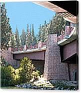 Healy Bridge Over Deschutes River Canvas Print
