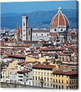 Overview Of Duomo Florence Canvas Print