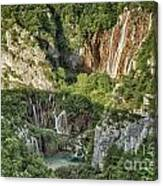 Overview Of Plitvice Canvas Print